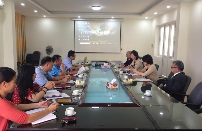 Đoàn cán bộ FFTC thăm và làm việc với Viện Thổ nhưỡng Nông hóa