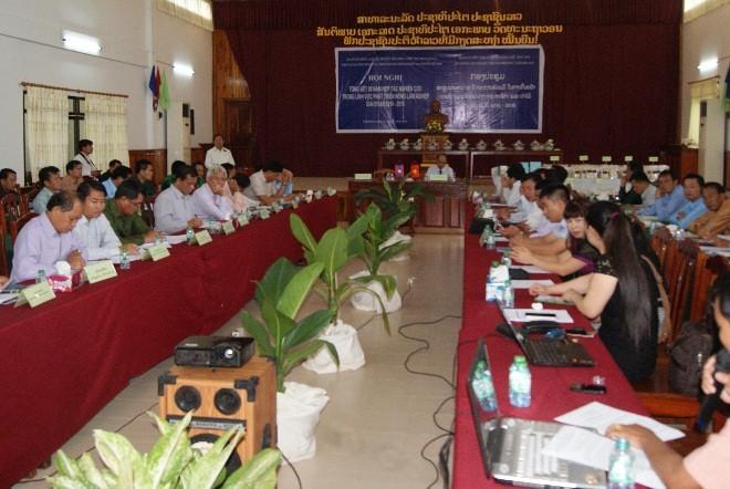 Hội nghị tổng kết 05 năm Hợp tác (2010-2015) giữa Viện Thổ nhưỡng Nông hóa (SFRI) và Sở Nông lâm nghiệp (PAFO) tỉnh Sayaboury, CHDCND Lào