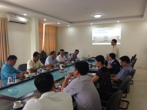Viện TNNH đón tiếp đoàn Viện Nghiên cứu Nông Lâm nghiệp Quốc gia Cộng hòa Dân chủ Nhân dân Lào