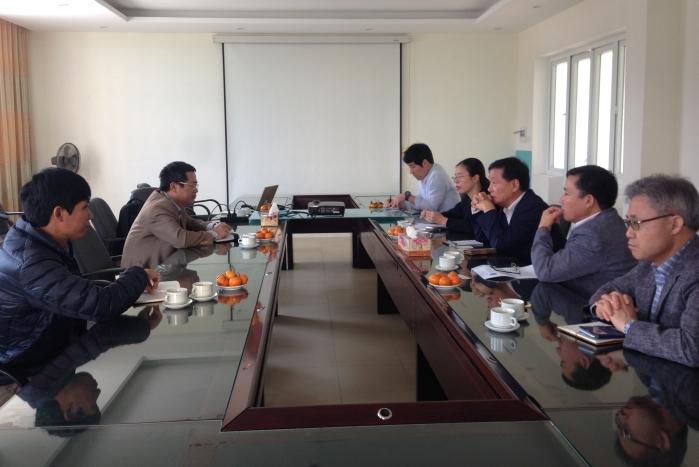Viện TNNH làm việc với đoàn Cục Phát triển Nông thôn (RDA) Hàn Quốc