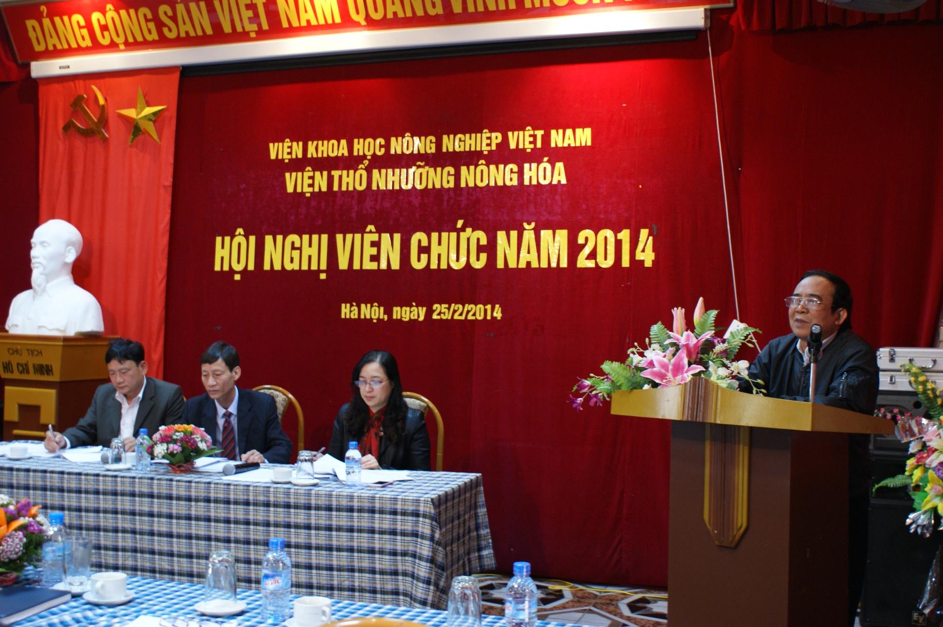 Hội nghị công nhân viên chức Viện TNNH năm 2014