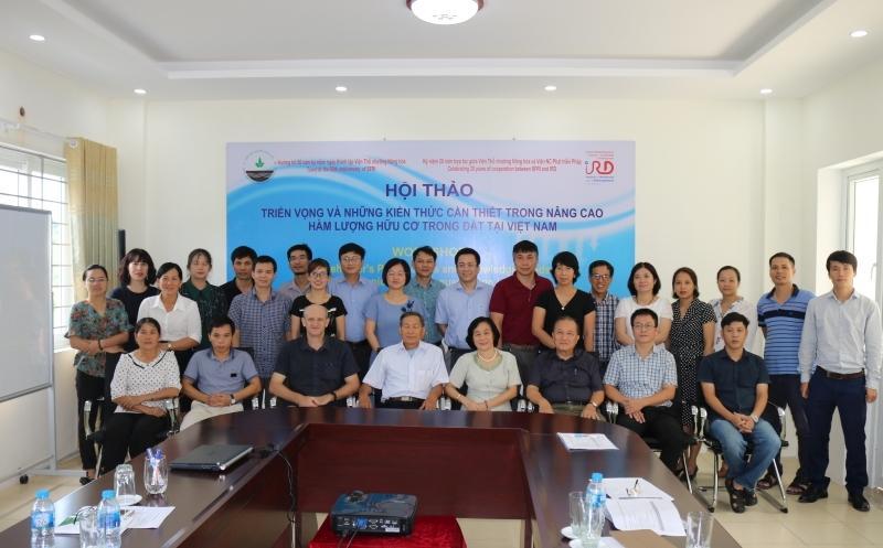 """Hội thảo """"Triển vọng và những kiến thức cần thiết trong nâng cao hàm lượng hữu cơ trong đất tại Việt Nam"""""""