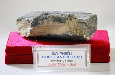 Đá phiến thạch anh Xerixit, hệ tầng A Vương, TT-Huế