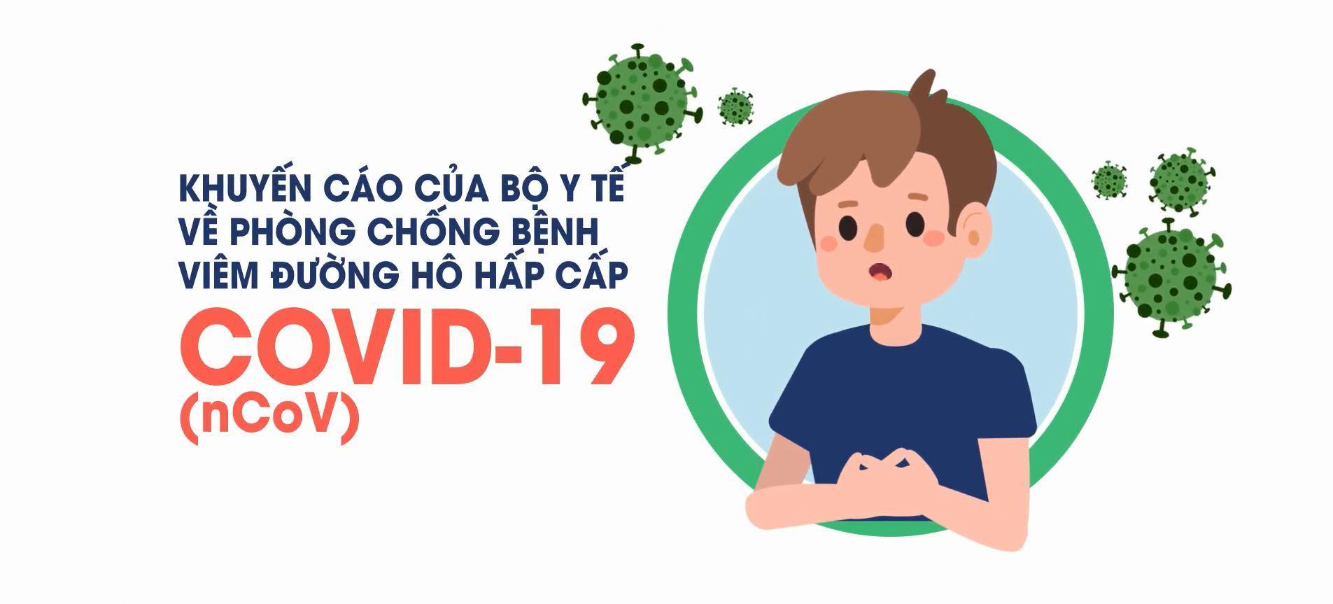 Khuyến cáo chung của Bộ y tế về phòng chống bệnh viêm đường hô hấp cấp COVID-19 (nCoV)
